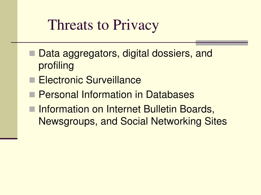 Threats to Privacy