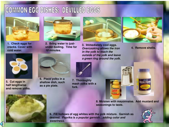 COMMON EGG DISHES:  DEVILLED EGGS