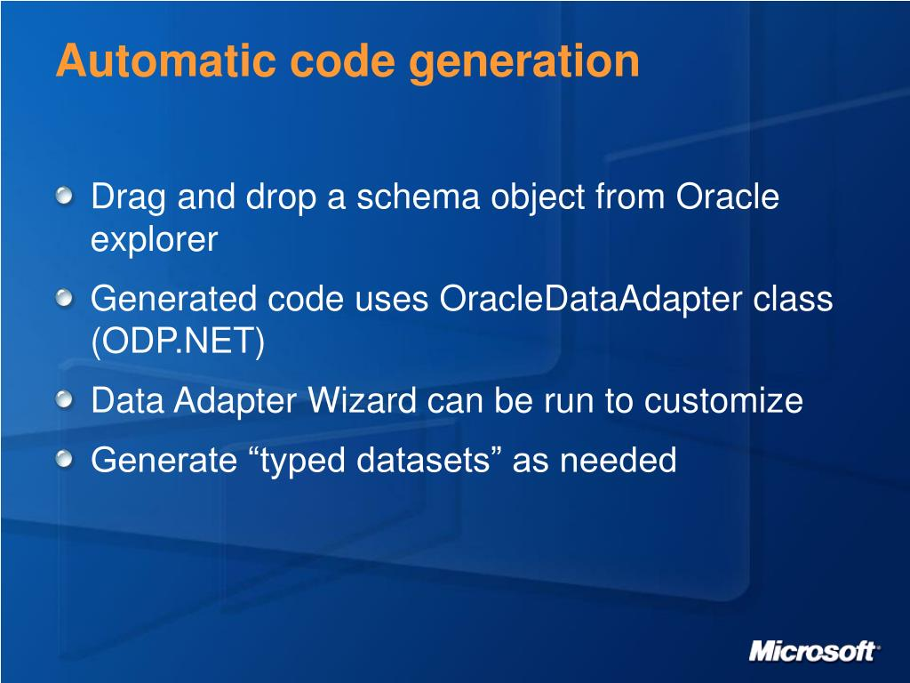 Automatic code generation