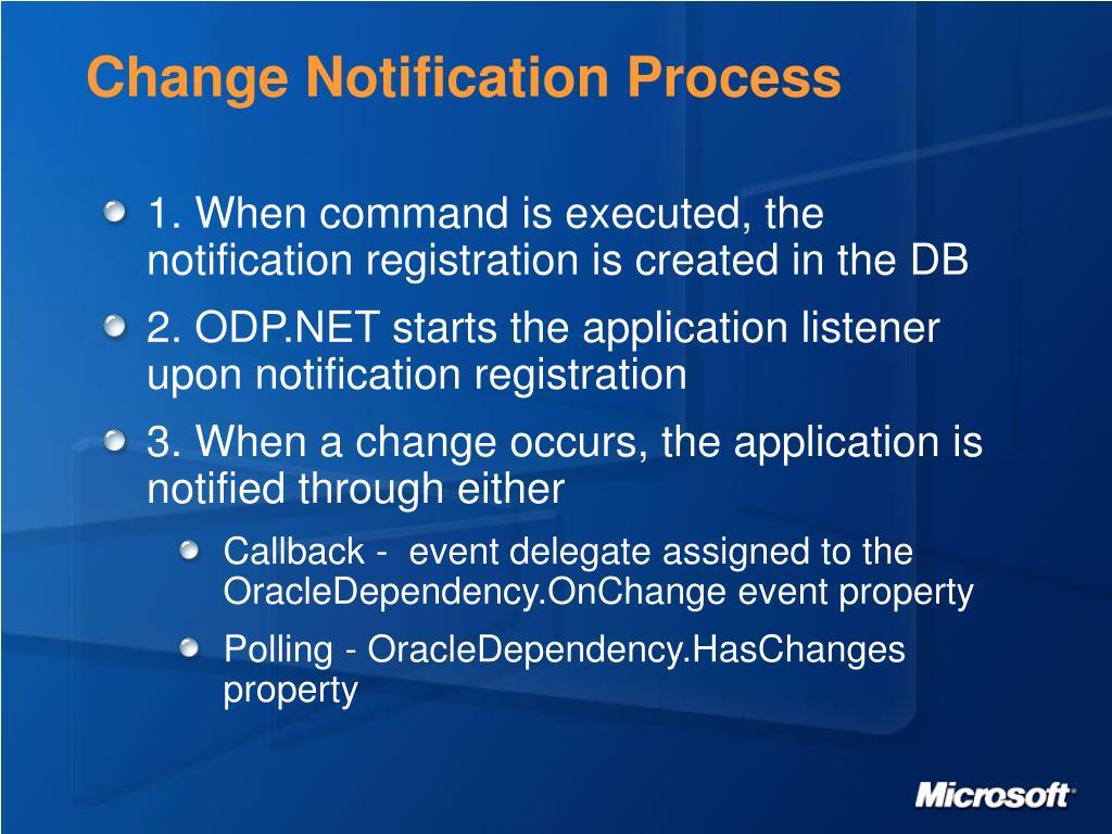 Change Notification Process