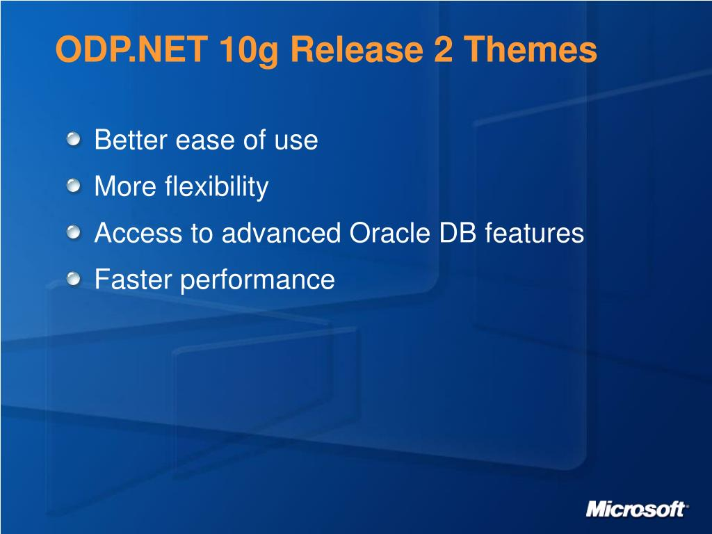 ODP.NET 10g Release 2 Themes