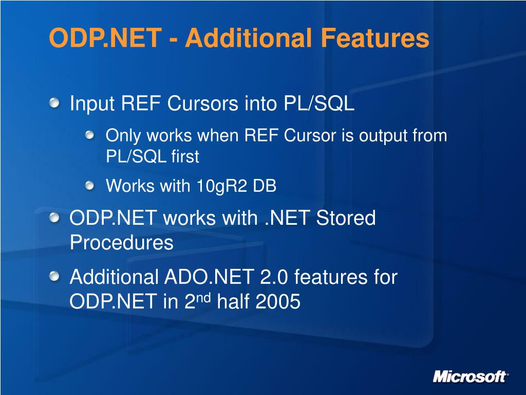 ODP.NET - Additional Features