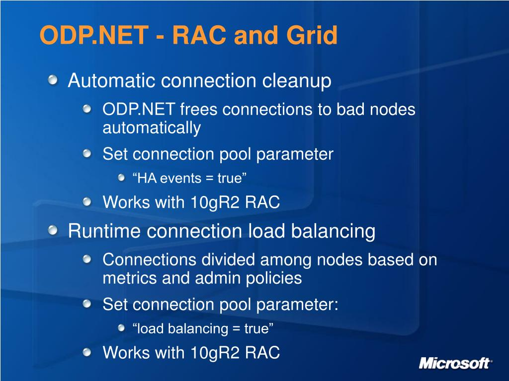 ODP.NET - RAC and Grid