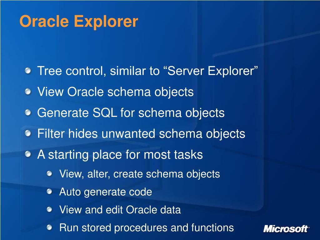 Oracle Explorer