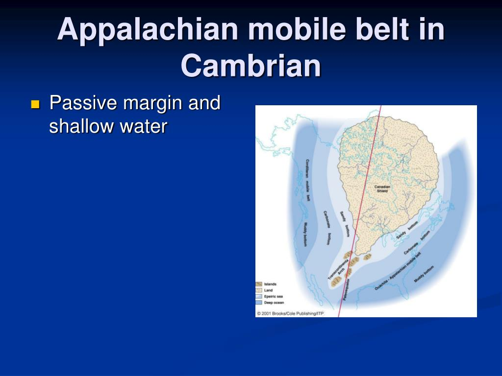 Appalachian mobile belt in Cambrian