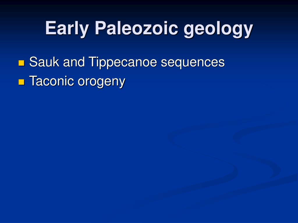 Early Paleozoic geology