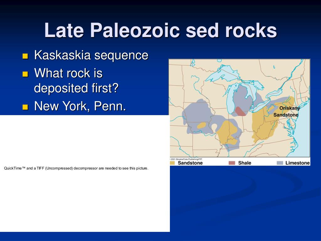 Late Paleozoic sed rocks