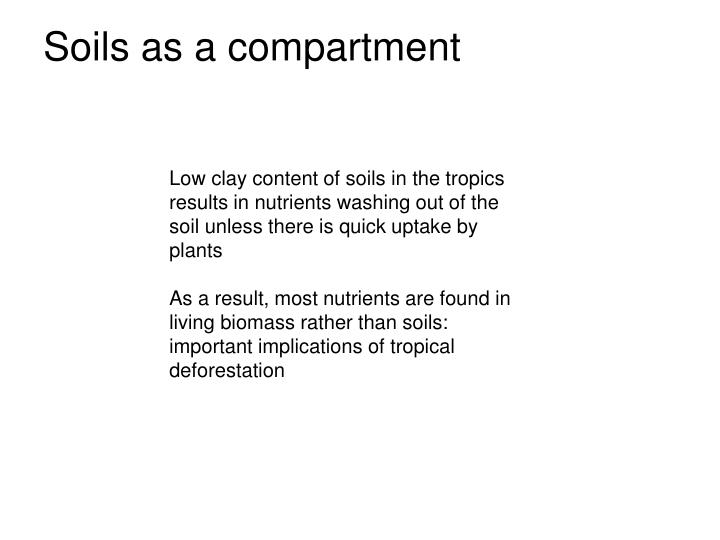 Soils as a compartment