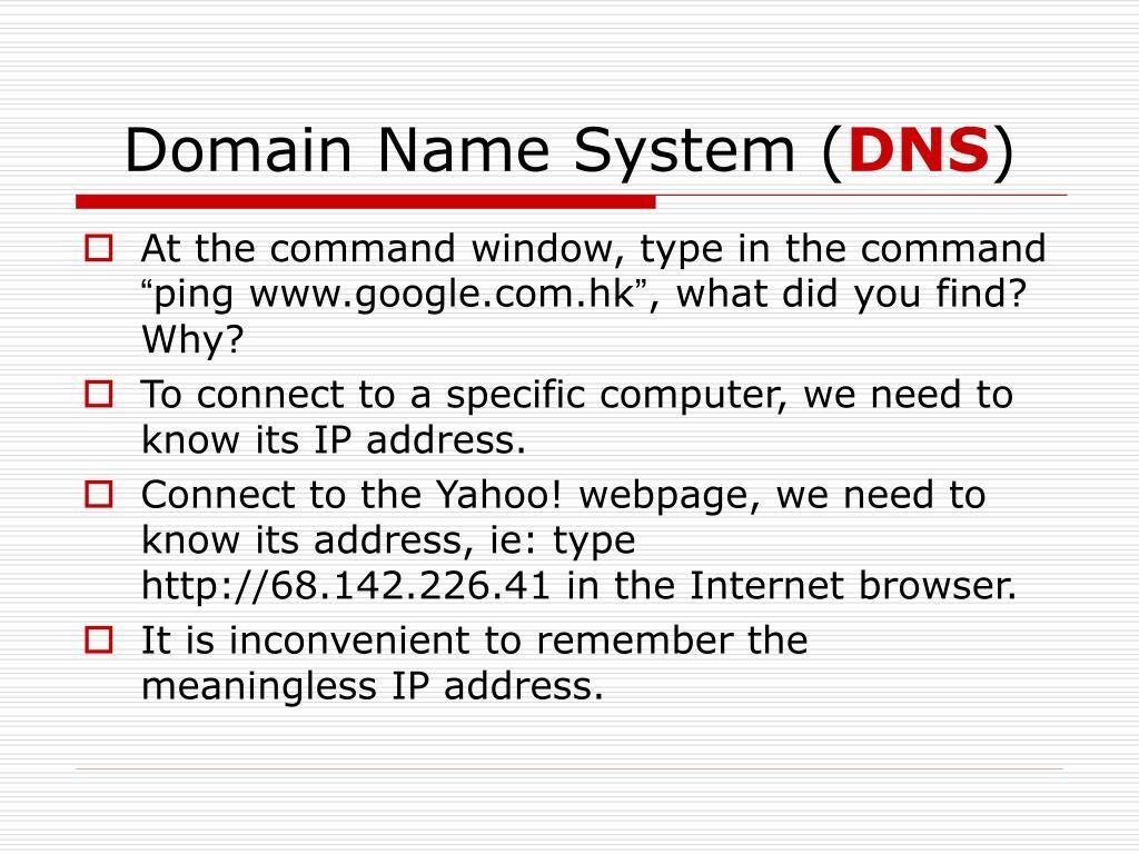 Domain Name System (