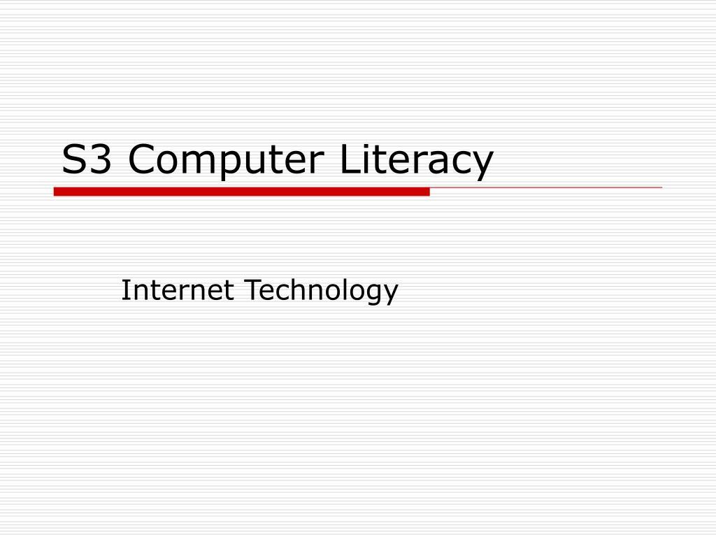 s3 computer literacy