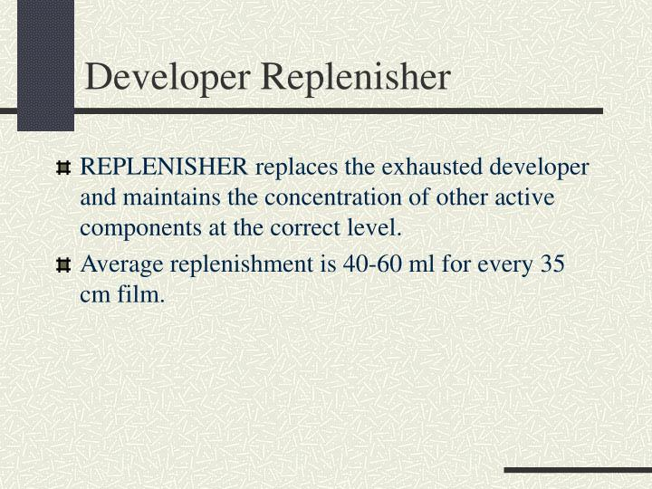 Developer Replenisher
