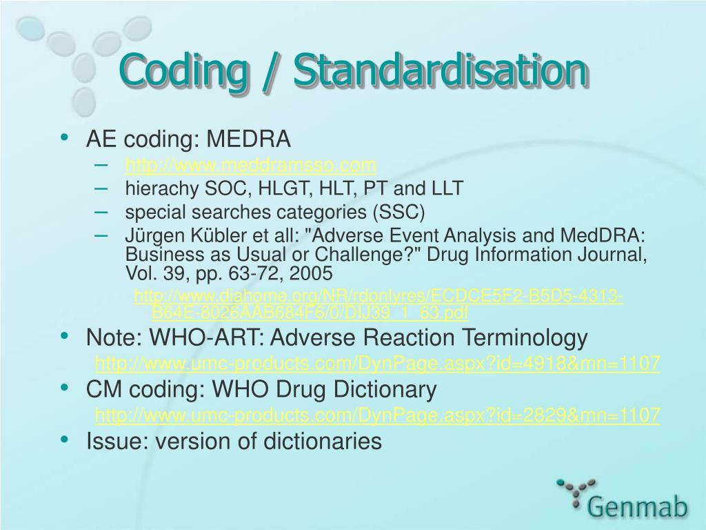 Coding / Standardisation