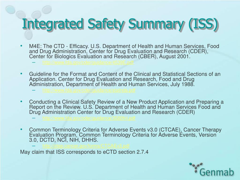 Integrated Safety Summary (ISS)