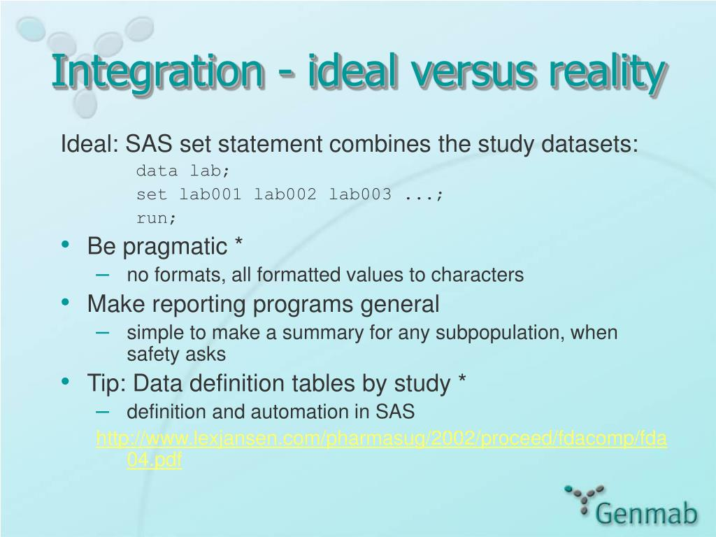 Integration - ideal versus reality