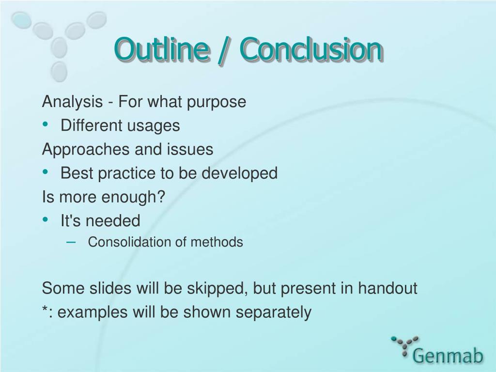 Outline / Conclusion