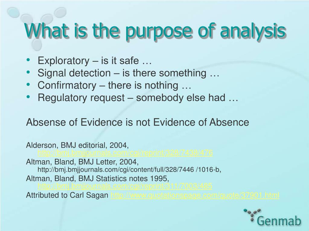 What is the purpose of analysis