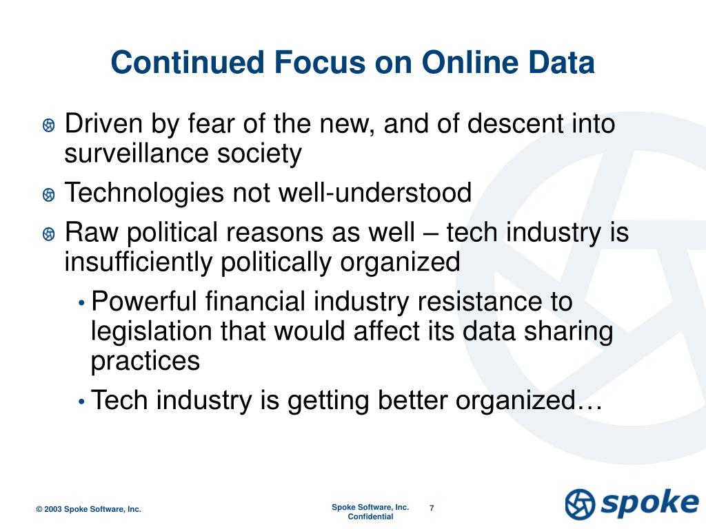 Continued Focus on Online Data