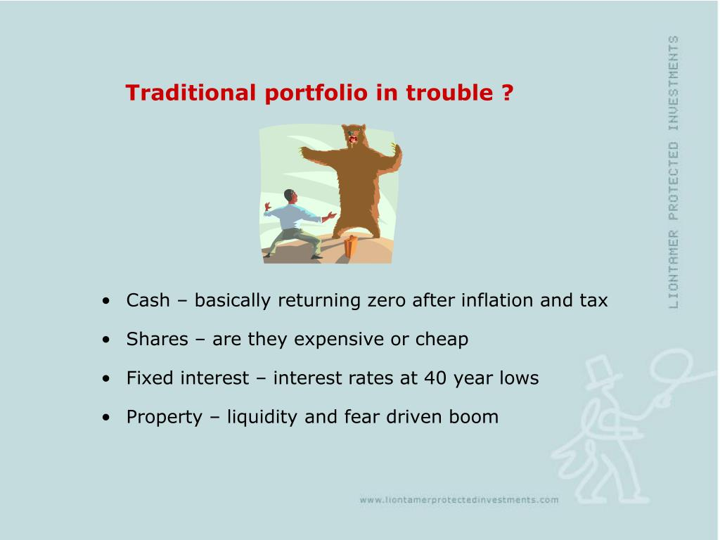 Traditional portfolio in trouble ?