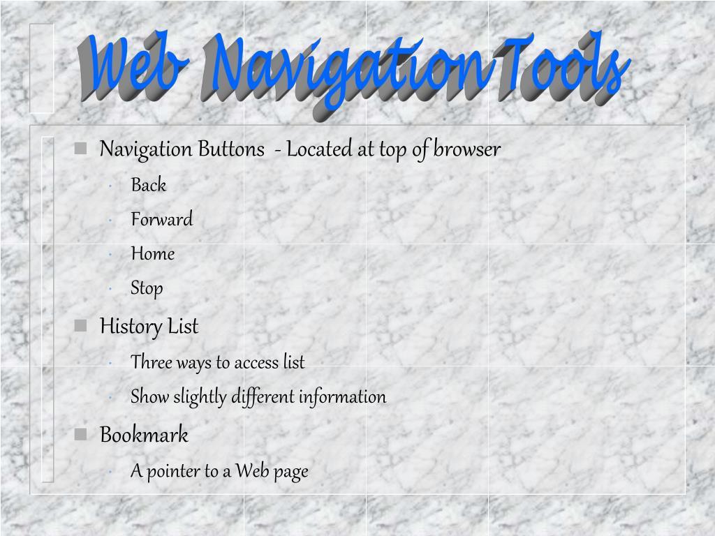 Web  Navigation Tools