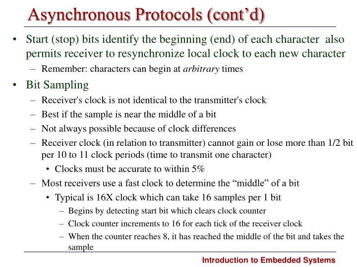 Asynchronous Protocols (cont'd)
