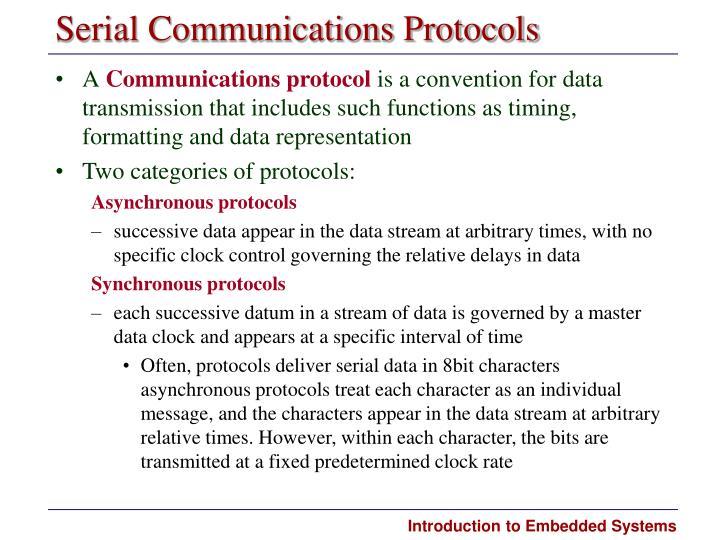 Serial Communications Protocols