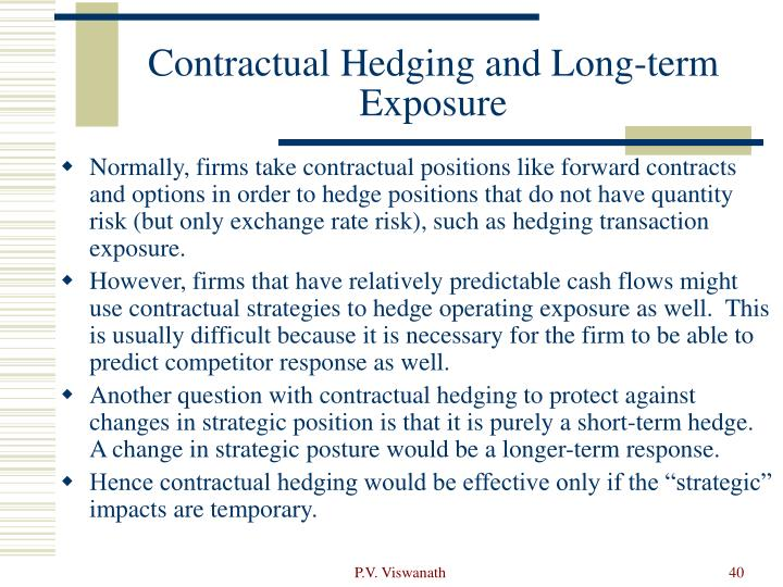 Contractual Hedging and Long-term Exposure