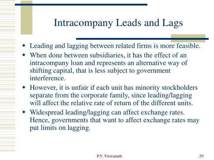 Intracompany Leads and Lags