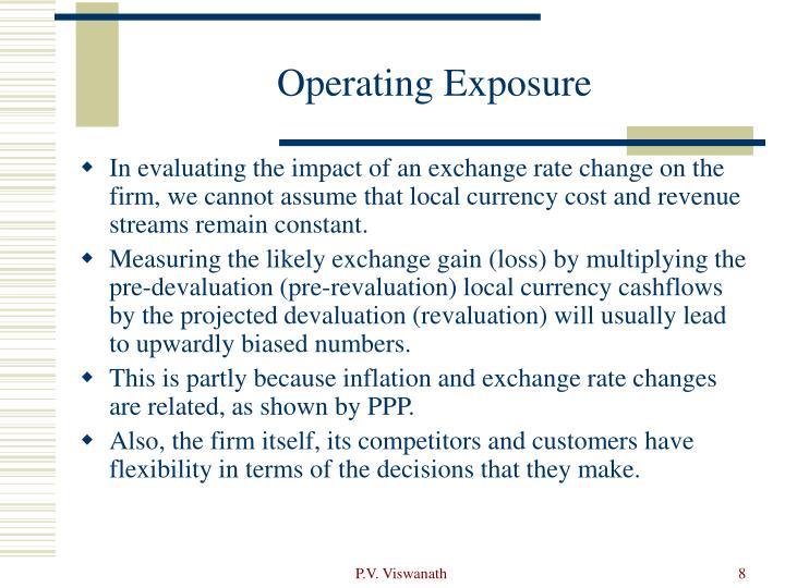 Operating Exposure