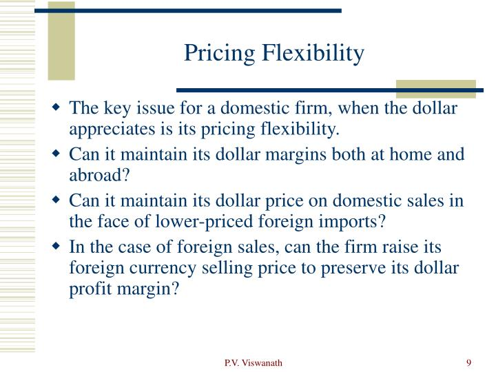Pricing Flexibility