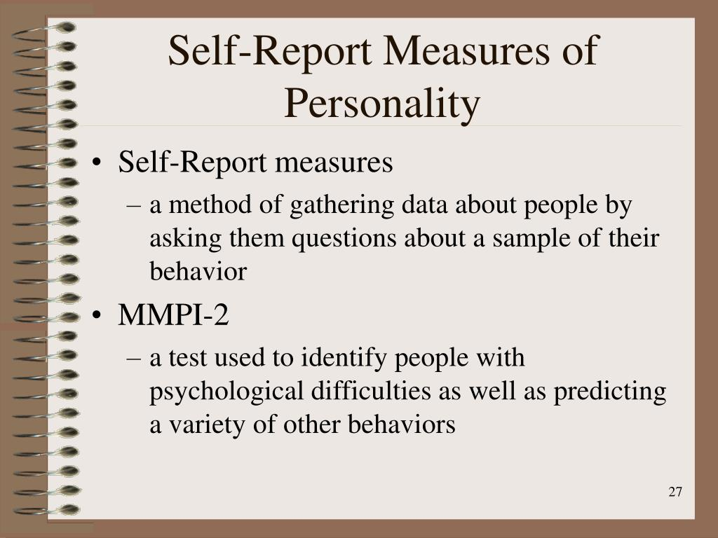 Self-Report Measures of Personality