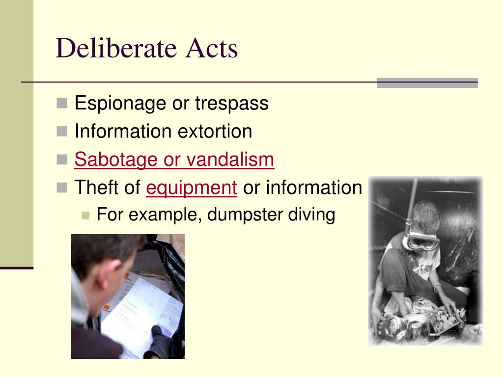 Deliberate Acts