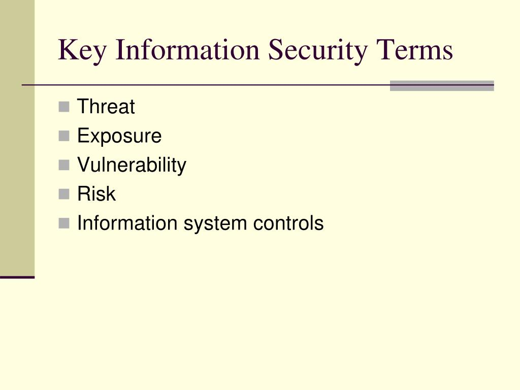 Key Information Security Terms