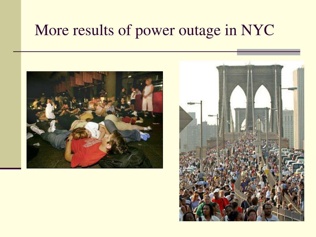 More results of power outage in NYC