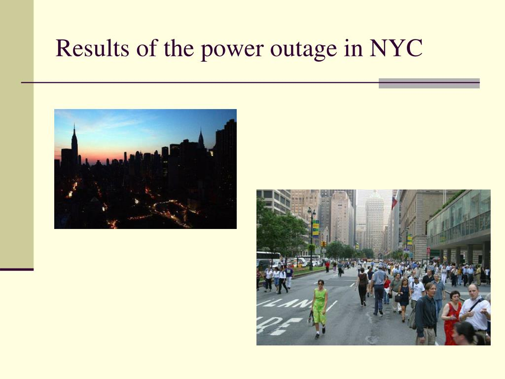 Results of the power outage in NYC