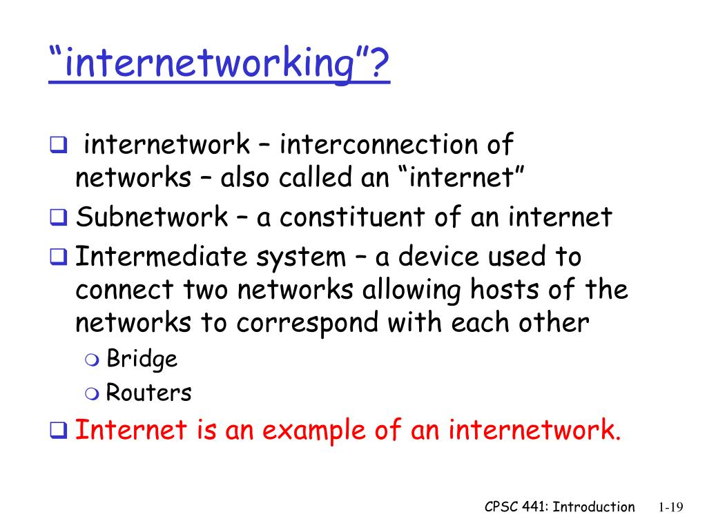 """internetworking""?"
