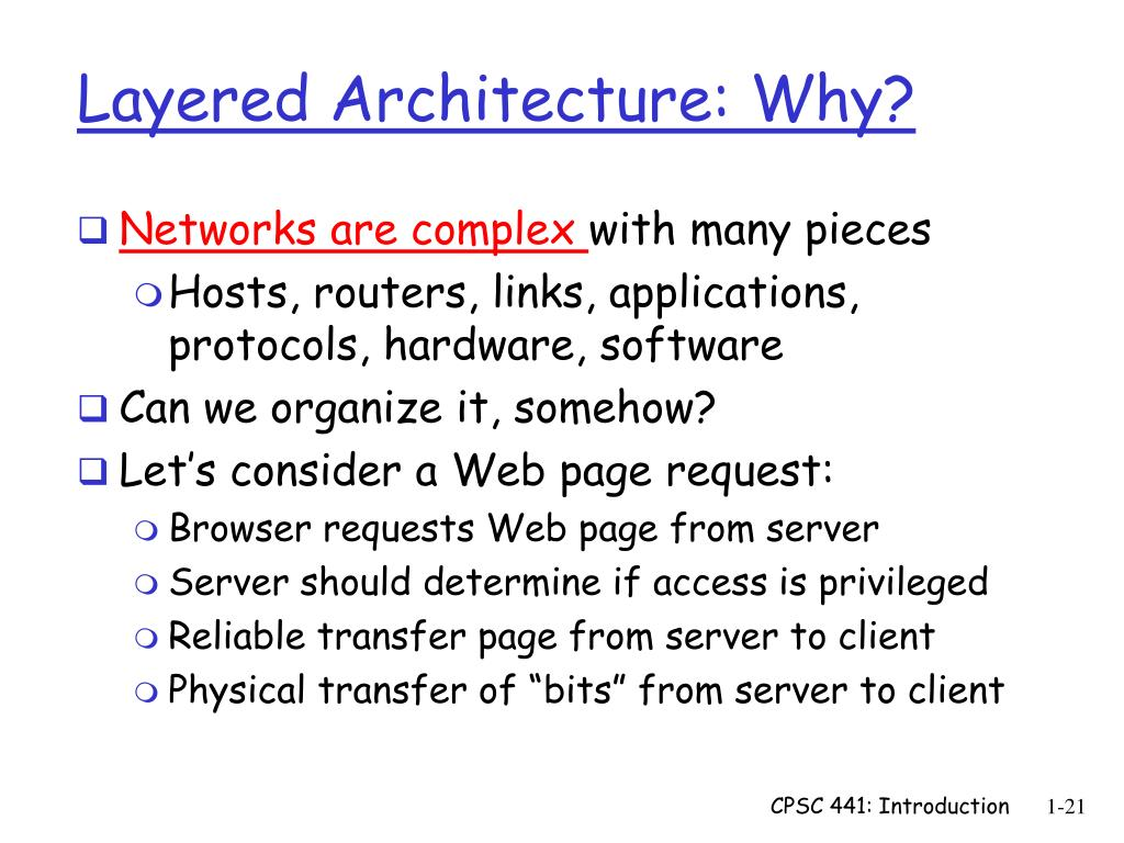Layered Architecture: Why?