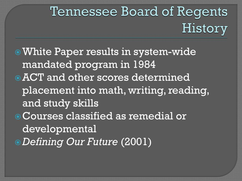 Tennessee Board of Regents History