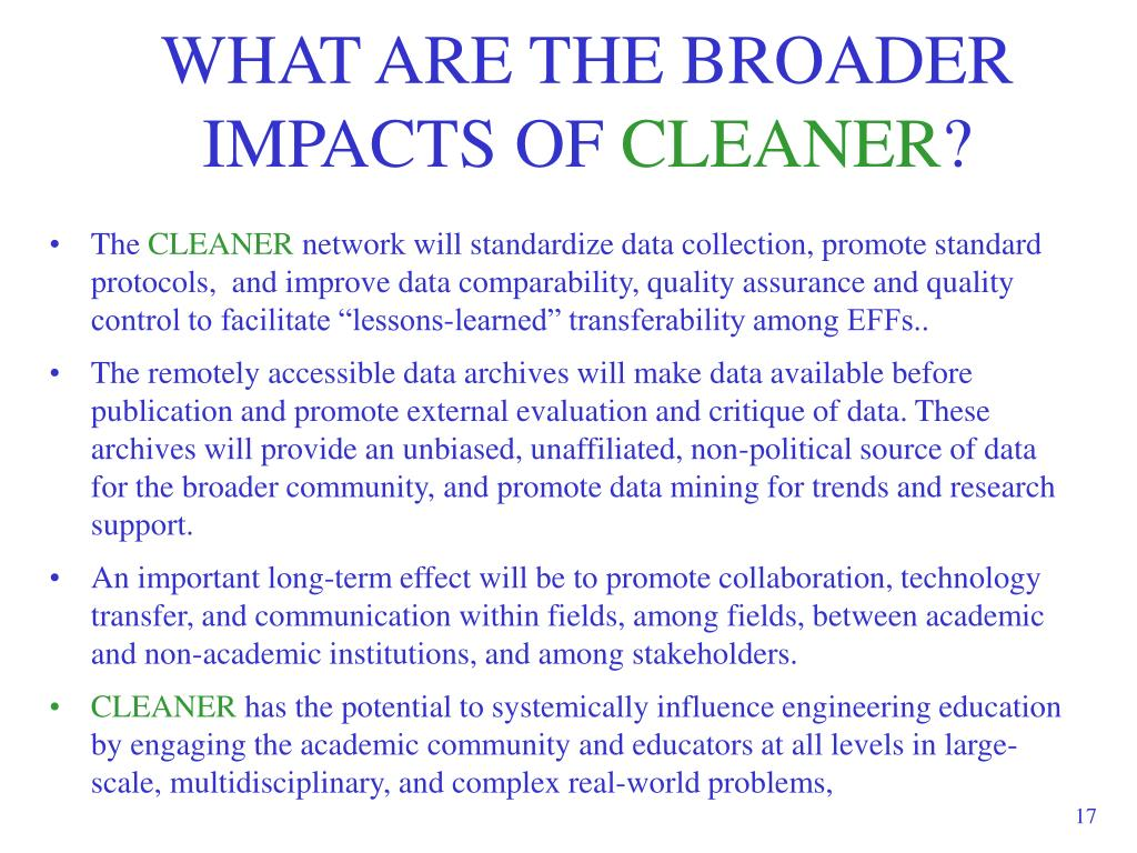 WHAT ARE THE BROADER IMPACTS OF
