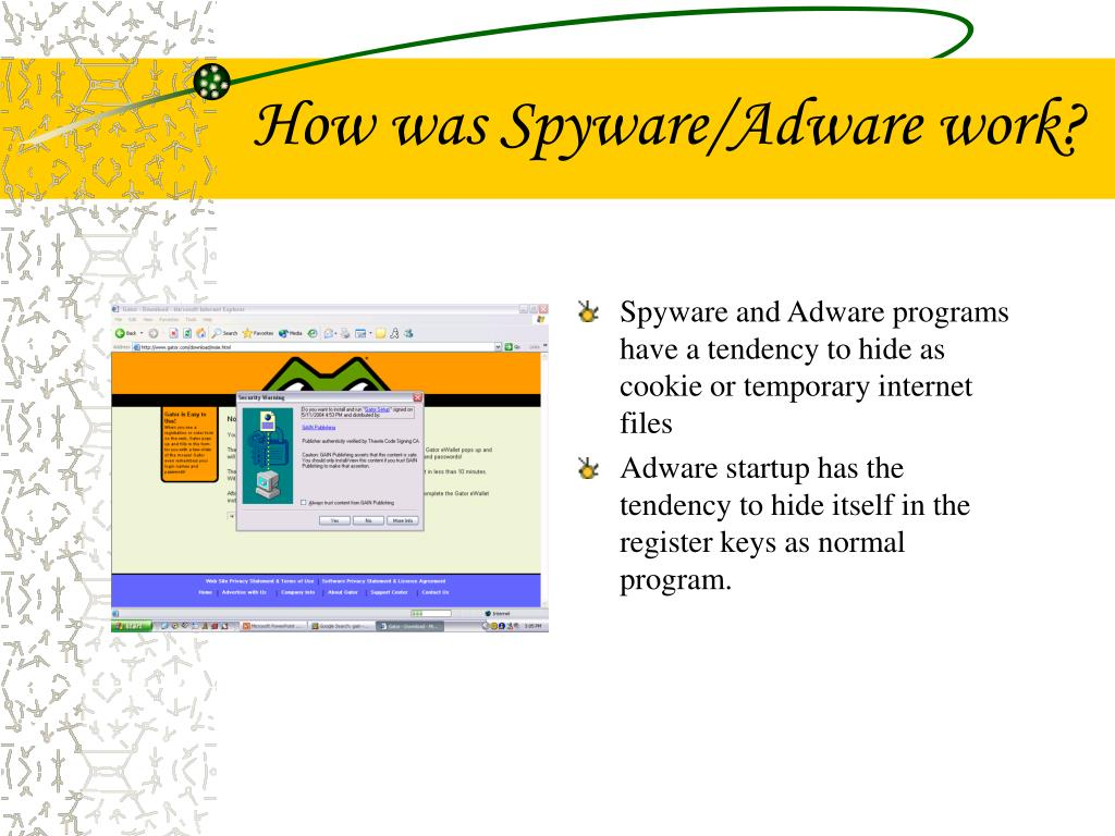 How was Spyware/Adware work?