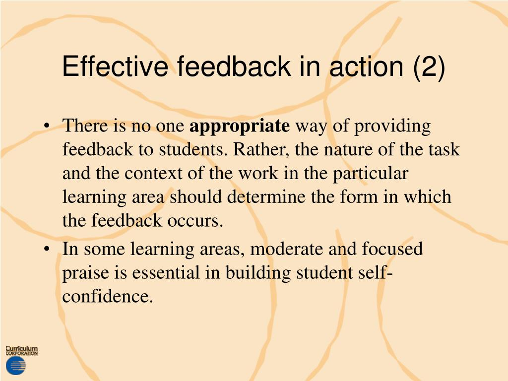Effective feedback in action (2)