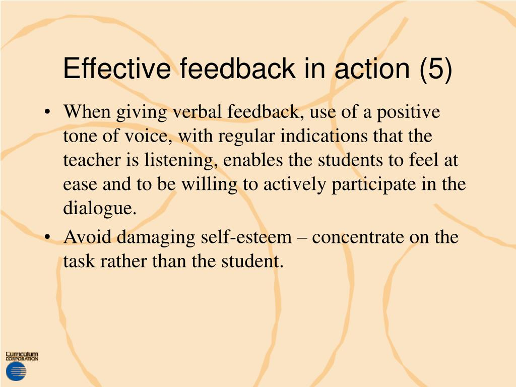 Effective feedback in action (5)