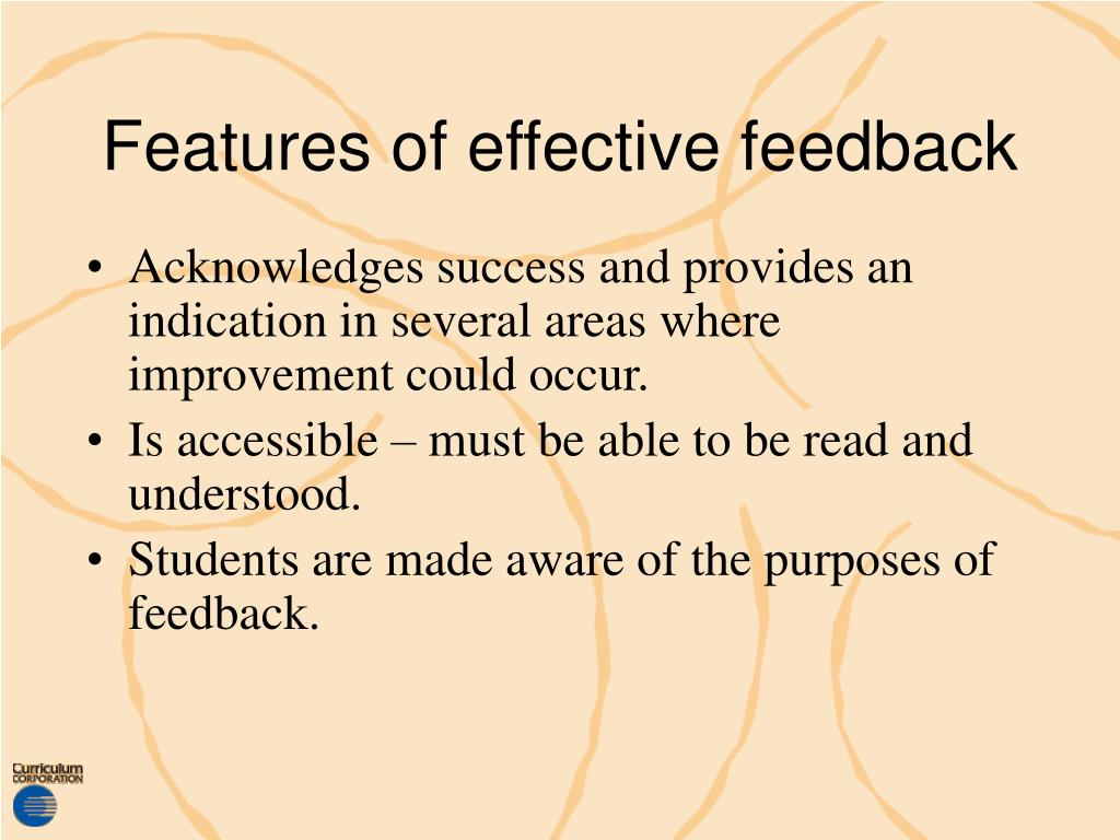 Features of effective feedback