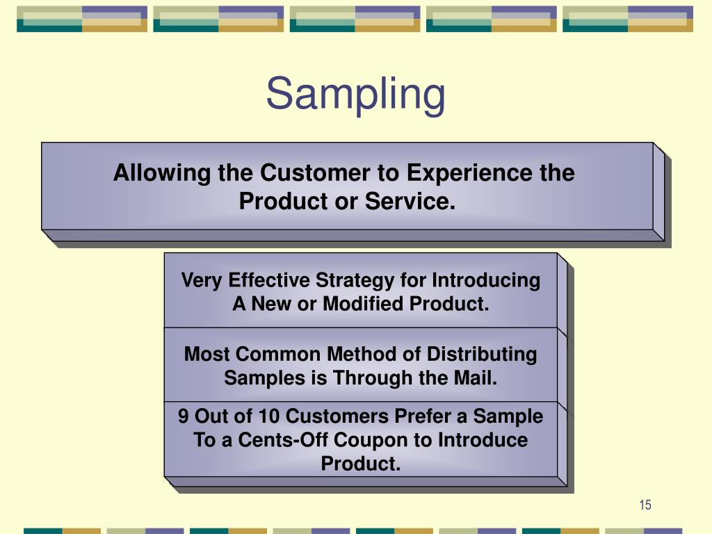 Allowing the Customer to Experience the