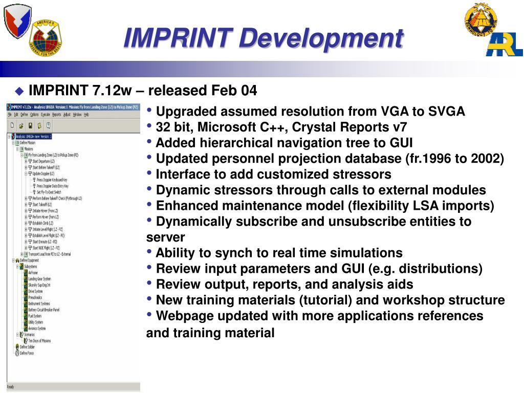 IMPRINT Development