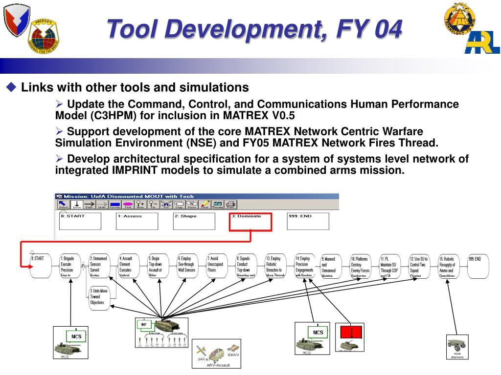 Tool Development,