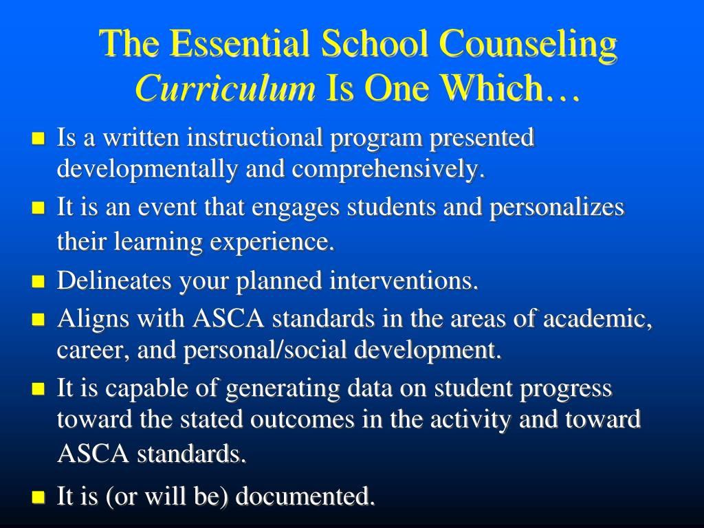 The Essential School Counseling