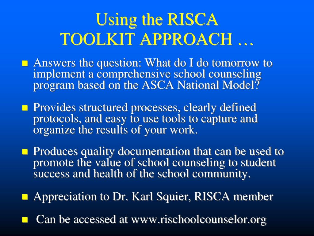 Using the RISCA