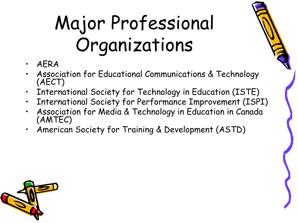 Major Professional Organizations
