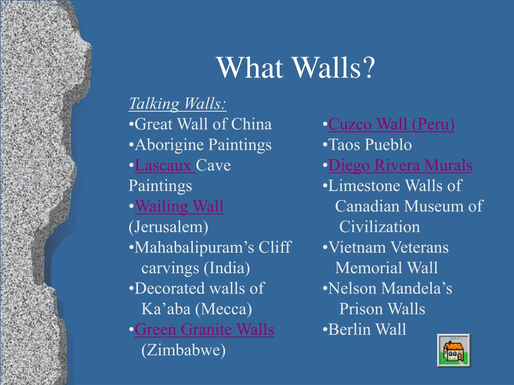 What Walls?