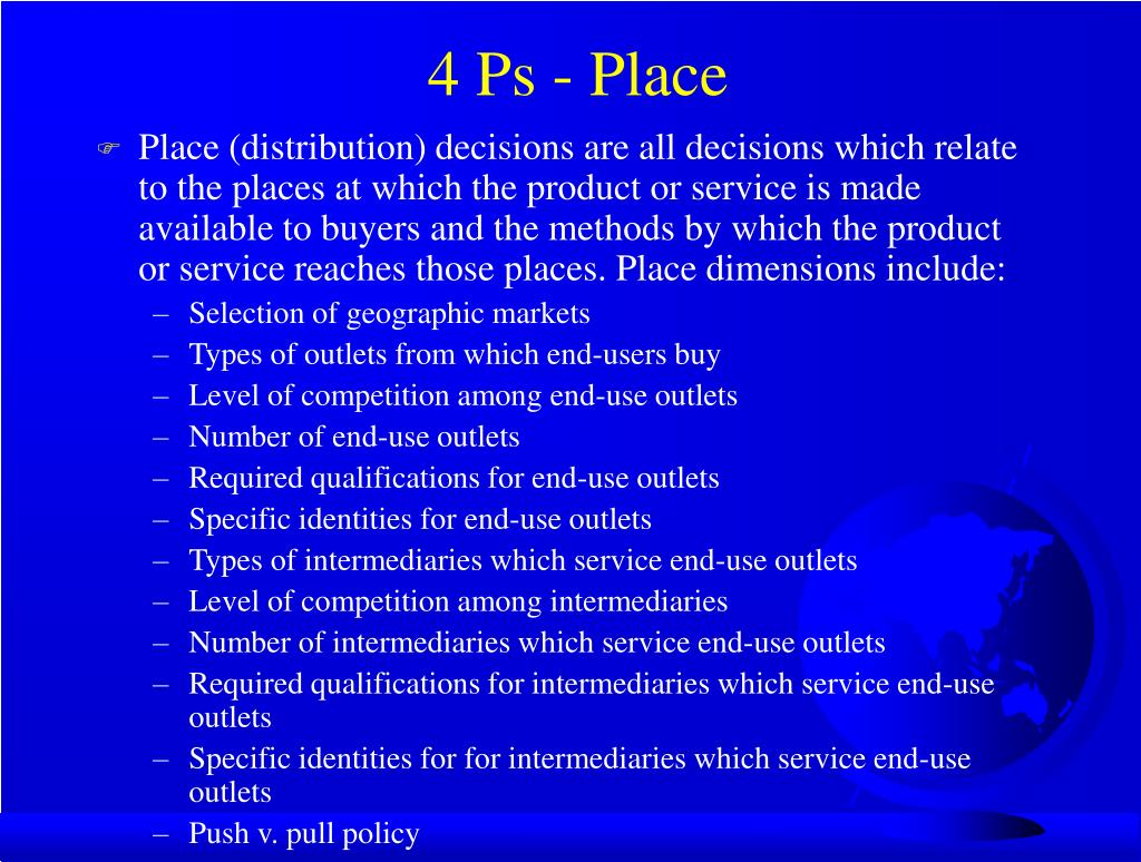 4 Ps - Place